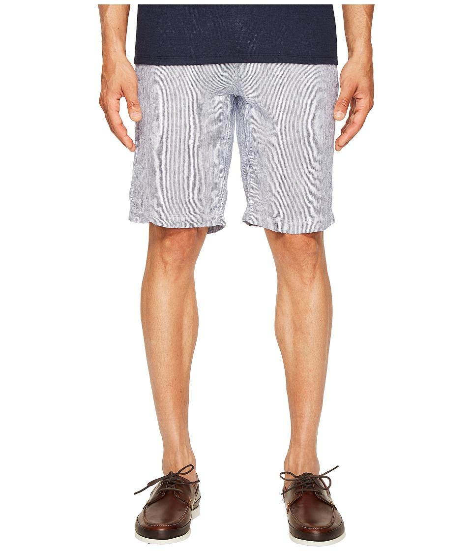 onia - Austin Linen Shorts (Deep Navy/White) Men's Shorts