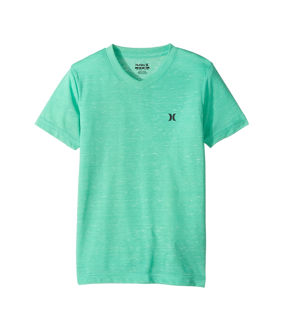 Hurley Kids - Cloud Slub Staple V-Neck Tee (Big Kids) (Menta) Boy's T Shirt