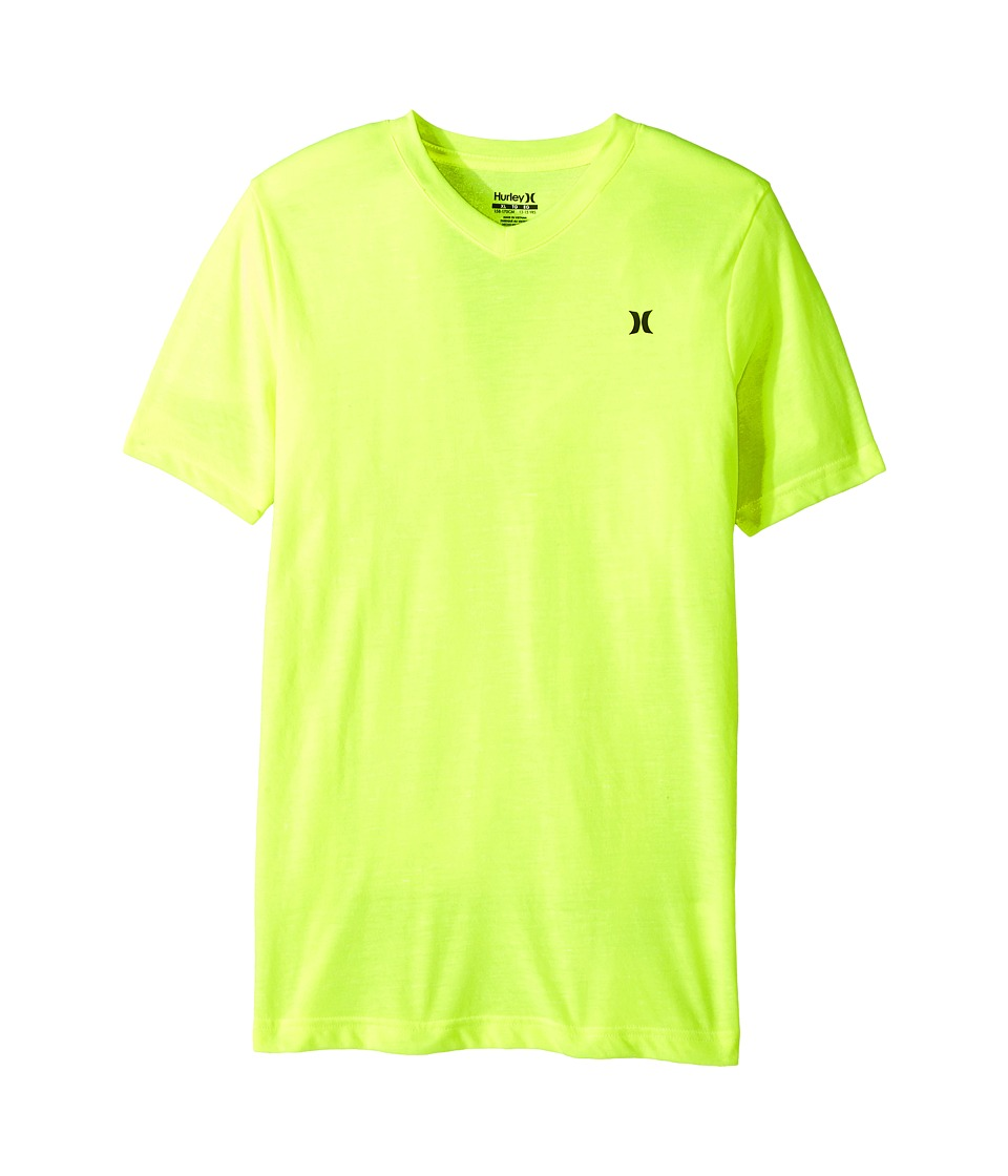 Hurley Kids - Cloud Slub Staple V-Neck Tee (Big Kids) (Volt) Boy's T Shirt