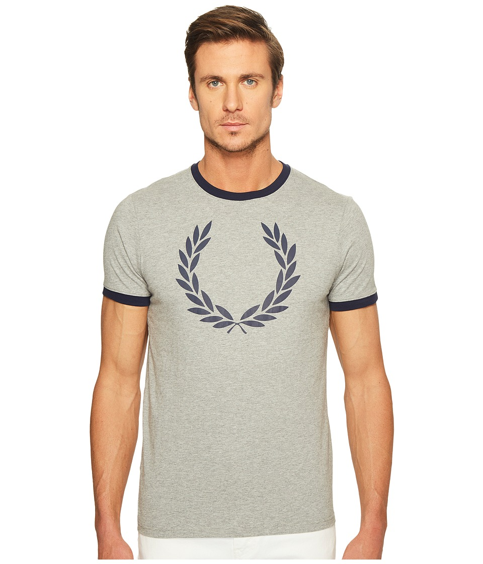 Fred Perry - Laurel Wreath Ringer T-Shirt (Steel Marl) Men's T Shirt