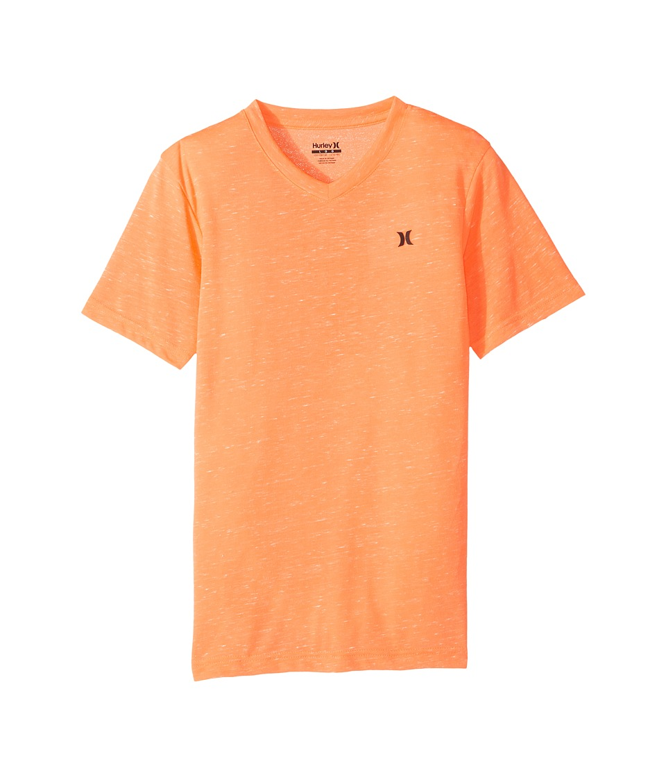 Hurley Kids - Cloud Slub Staple V-Neck Tee (Big Kids) (Hyper Crimson) Boy's T Shirt
