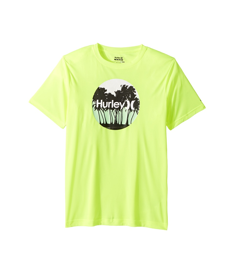 Hurley Kids - Sun Protection Short Sleeve Tee (Big Kids) (Volt) Boy's T Shirt