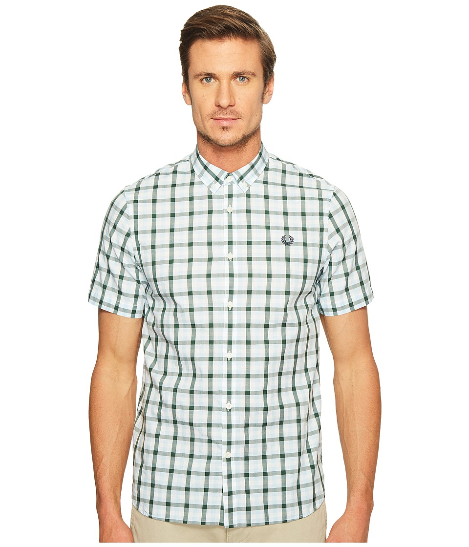 Fred Perry - Three - Colour Gingham Shirt (Glacier) Men's Clothing