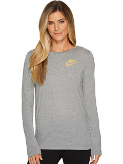 sportswear-essential-metallic-long-sleeve-top by nike