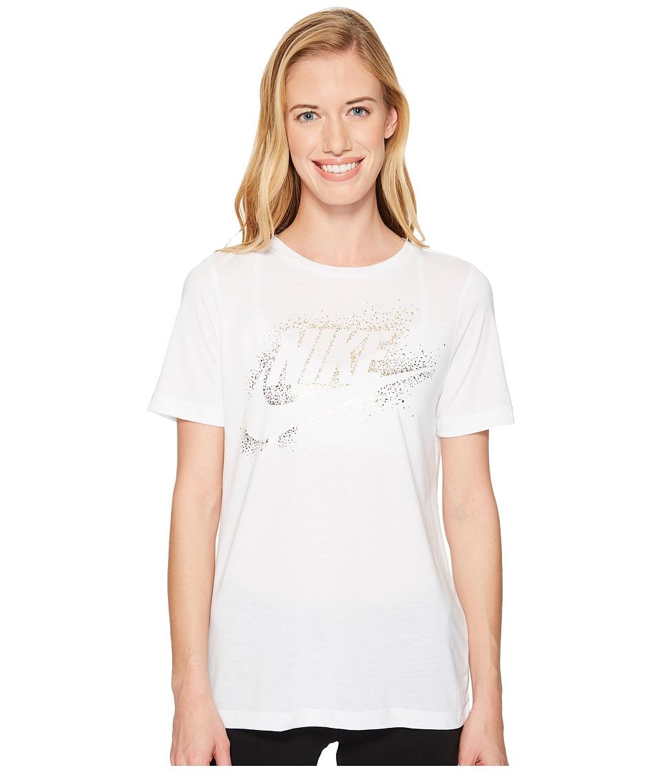 Nike Sportswear Essential Metallic Tee (White) Women