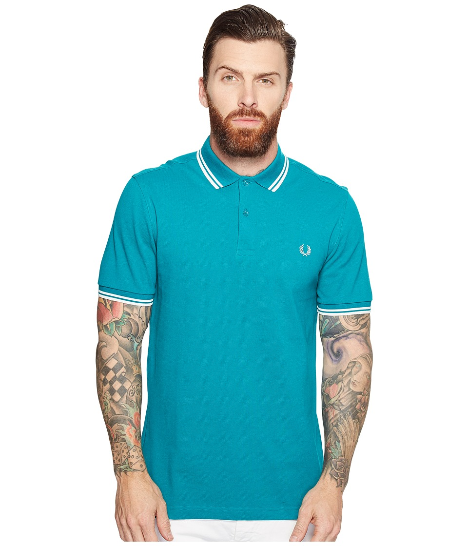 Fred Perry - Twin Tipped Shirt (Fanfair/Porcelain) Men's Short Sleeve Knit