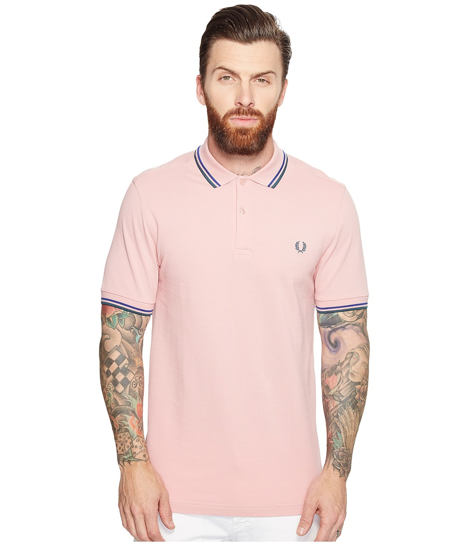 Fred Perry - Twin Tipped Shirt (Chalk/Regal/Dark Teal) Men's Short Sleeve Knit