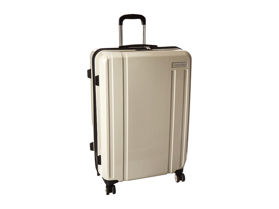 Calvin Klein - Beacon 28 Upright Suitcase (White) Luggage