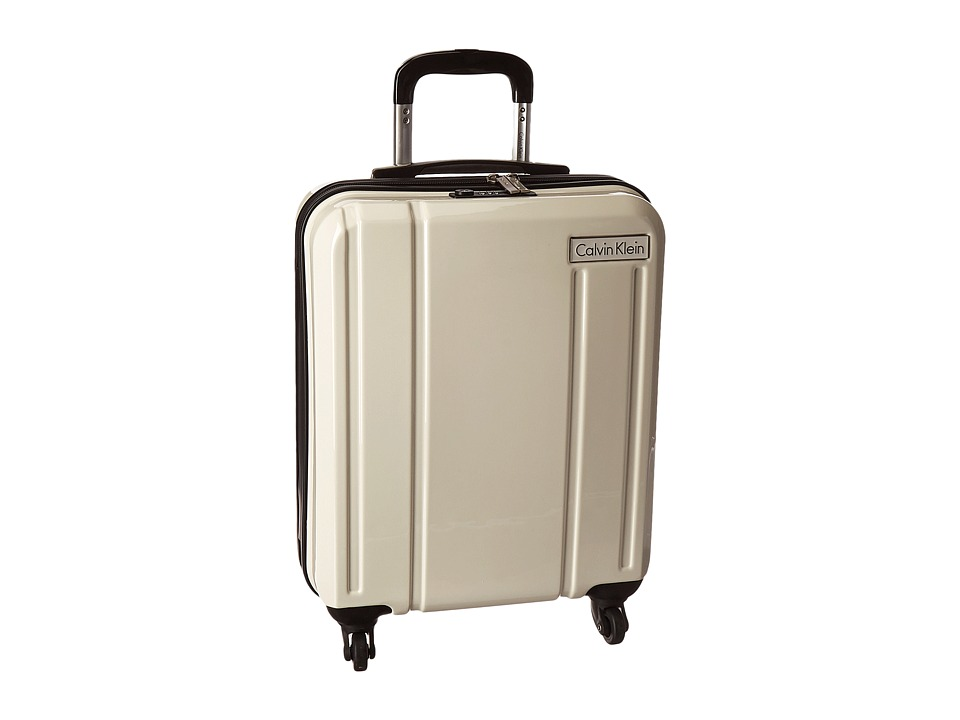 Calvin Klein - Beacon 20 Upright Suitcase (White) Luggage