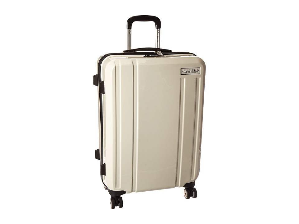 Calvin Klein - Beacon 24 Upright Suitcase (White) Luggage