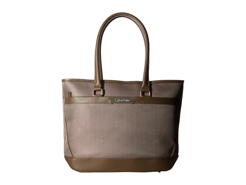 Calvin Klein - Whitehall 17 Tote (Khaki) Tote Handbags