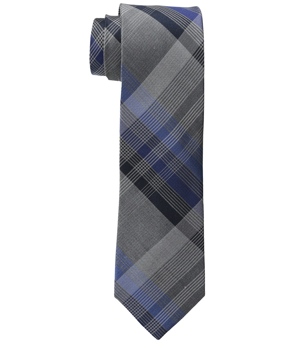 Kenneth Cole Reaction - 3 Color Plaid (Navy) Ties