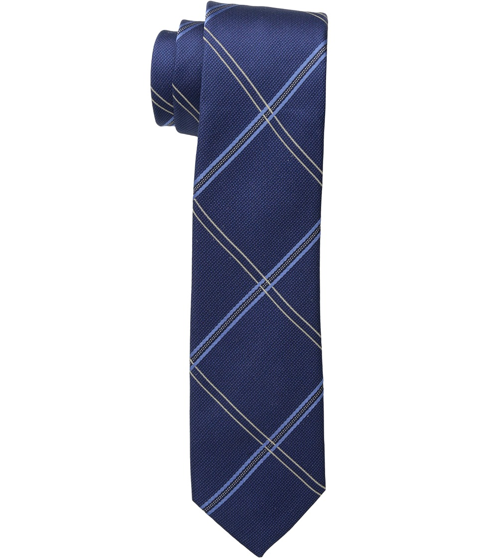 Kenneth Cole Reaction - Simple Grid (Navy) Ties