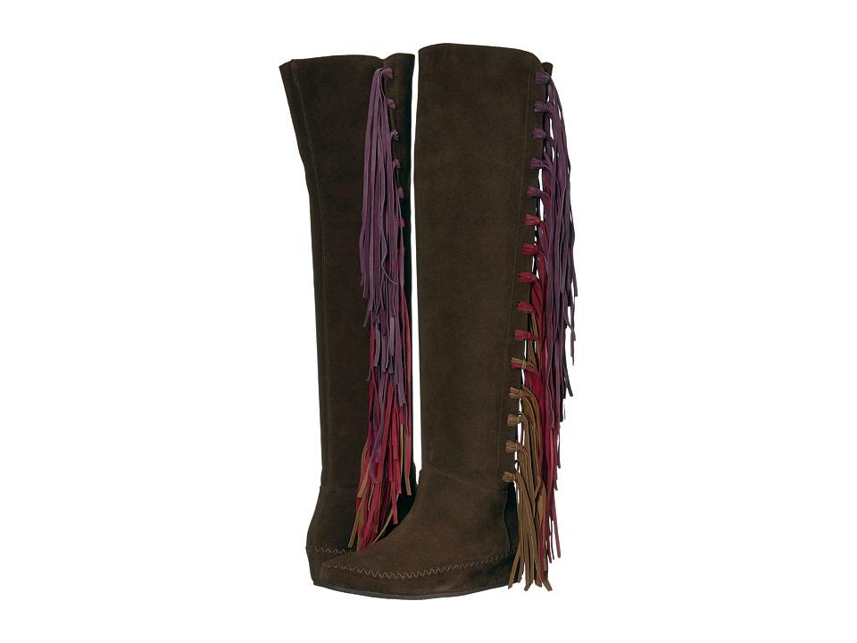Etro Tall Fringe Boot (Chocolate) Women