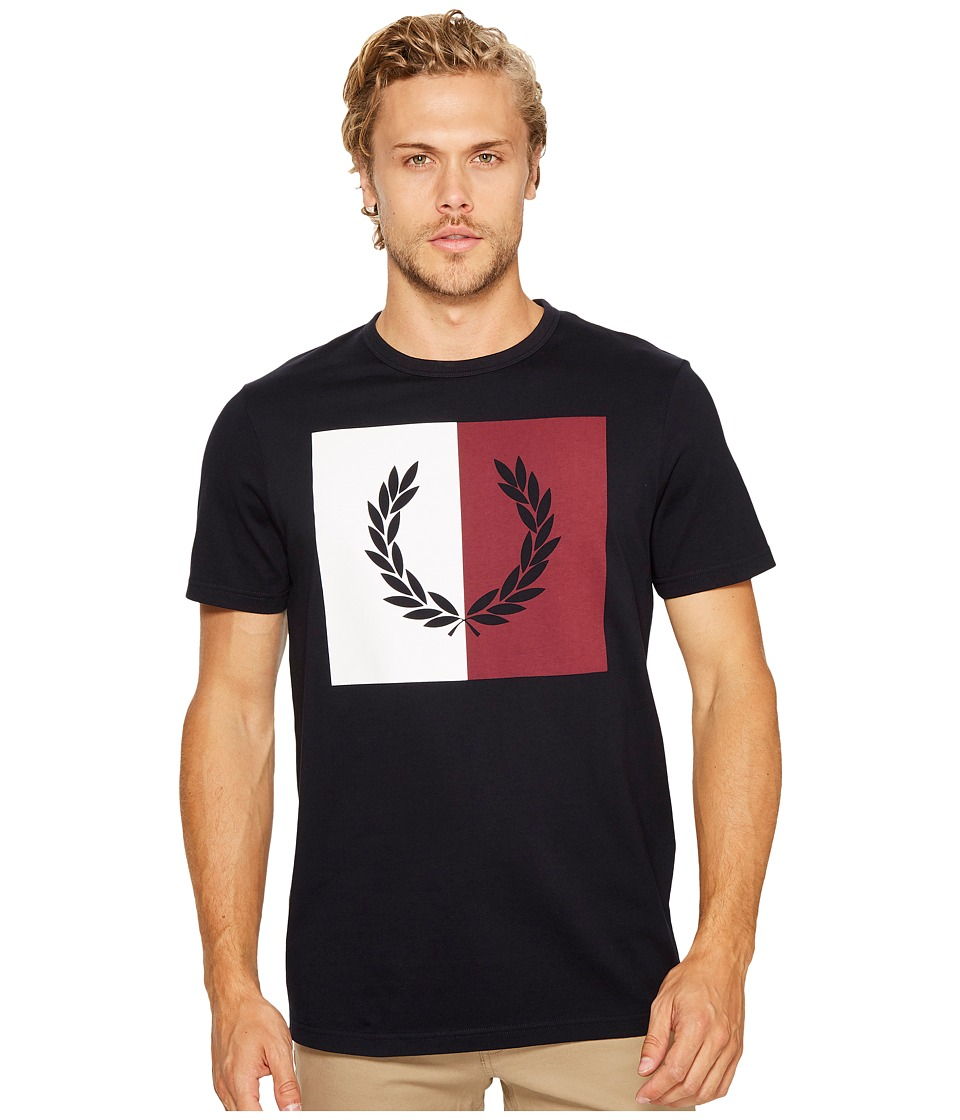 Fred Perry - Split Laurel Wreath T-Shirt (Navy) Men's T Shirt
