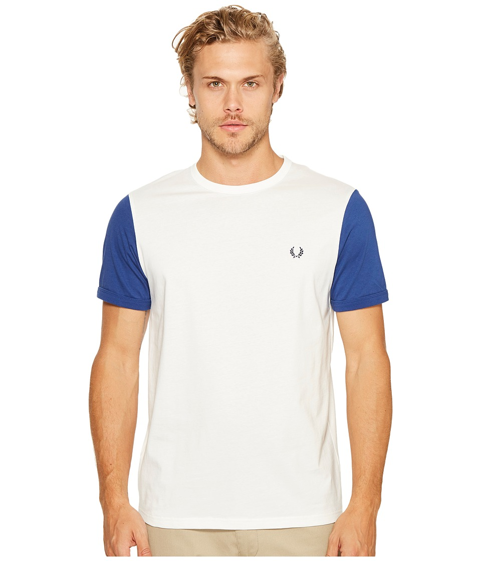 Fred Perry - Colour Block T-Shirt (Snow White) Men's T Shirt