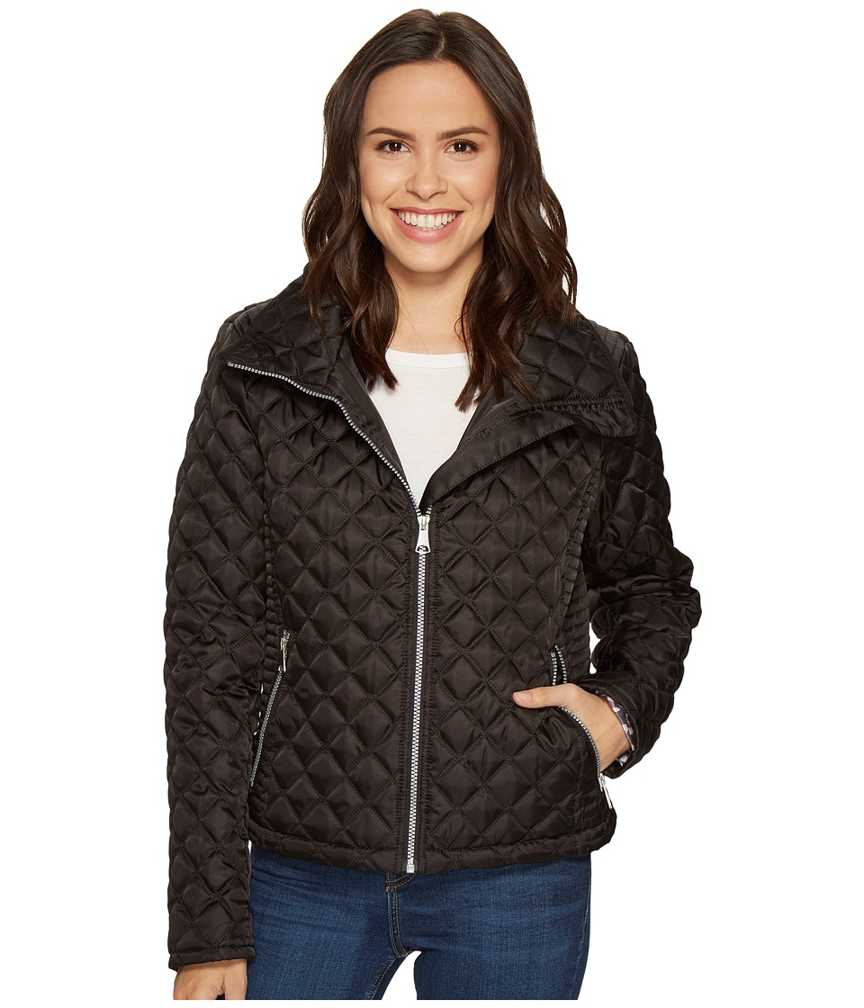 Marc New York by Andrew Marc - Charlie Chain Link Polyfill Quilt 25 Jacket (Black) Women's Coat