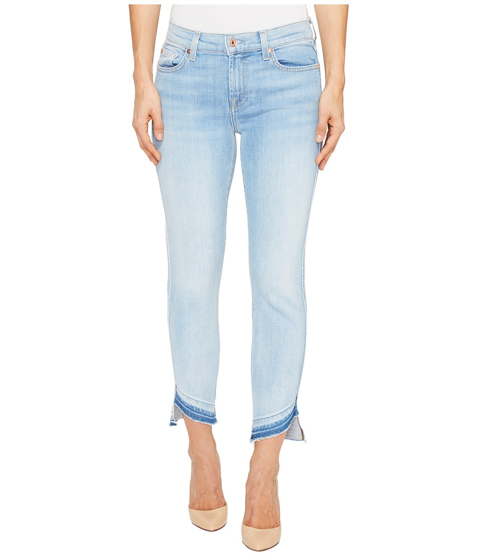7 For All Mankind - Roxanne Ankle w/ Angled Hem in Ocean Breeze (Ocean Breeze) Women's Jeans