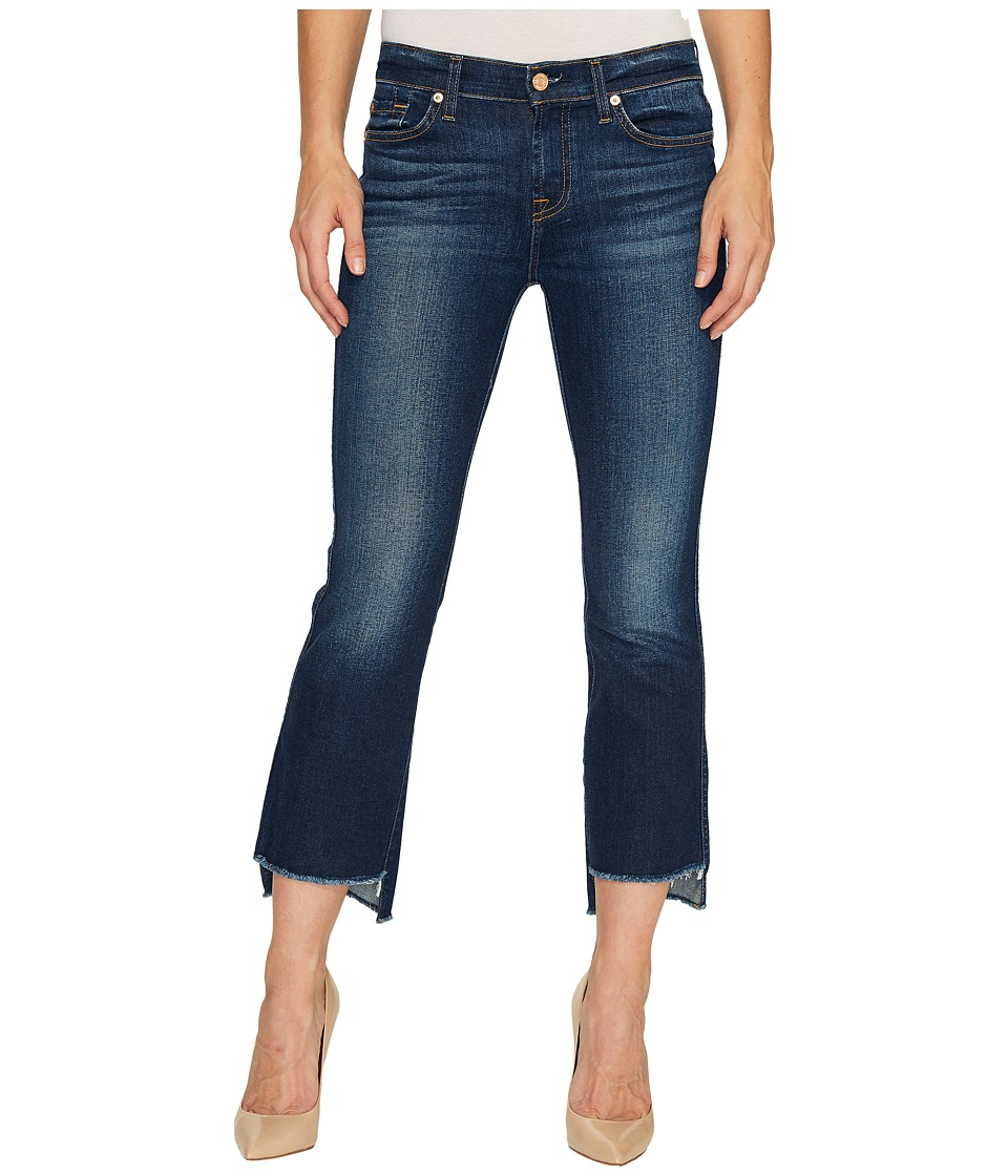 7 For All Mankind - Cropped Boot w/ Step Hem in Dark Paradise (Dark Paradise) Women's Jeans