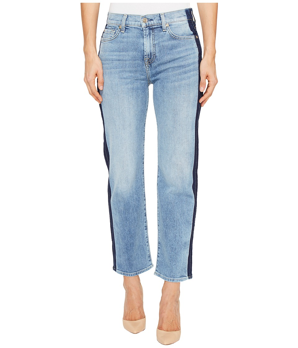 7 For All Mankind - Kiki Jeans w/ Shadow Side Seam in Gold Coast Waves (Gold Coast Waves) Women's Jeans