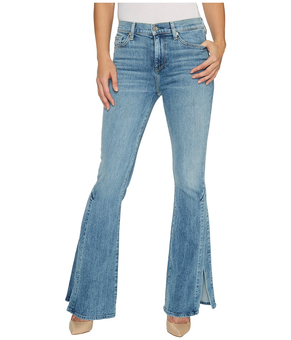 7 For All Mankind - Ali Jeans w/ Side Seam Split in Gold Coast Waves (Gold Coast Waves) Women's Jeans