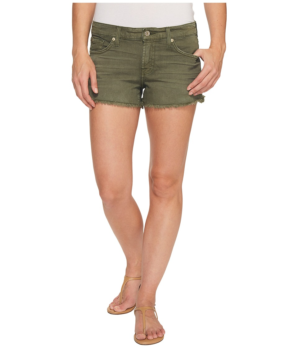 7 For All Mankind - Cut Off Shorts in Olive (Olive) Women's Shorts