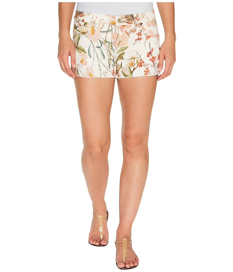 7 For All Mankind - Cut Off Shorts w/ Side Splits Light Destroy in Tropical Print 2 (Tropical Print 2) Women's Shorts