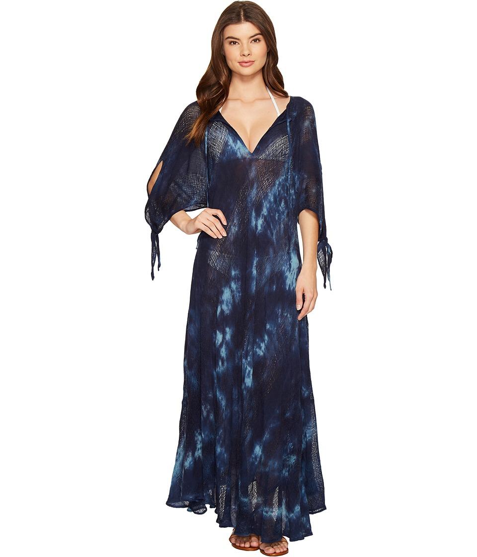 Blue Life St. Barts Caftan Cover-Up Rain Tie-Dye Swimwear