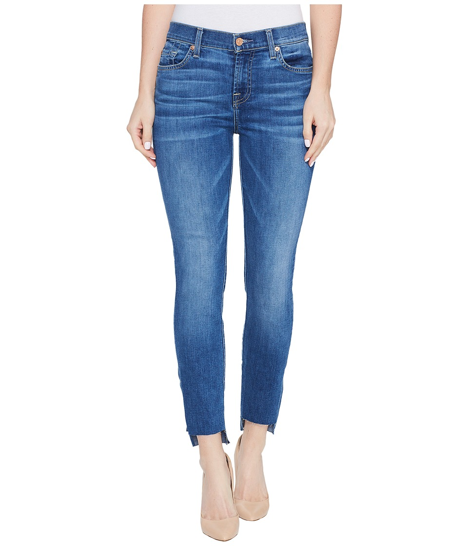 7 For All Mankind - The Ankle Skinny Jeans w/ Step Hem in Bella Heritage (Bella Heritage) Women's Jeans