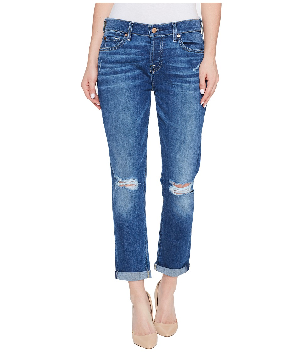 7 For All Mankind - Josefina Jeans w/ Knee Holes in Bella Heritage 2 (Bella Heritage 2) Women's Jeans