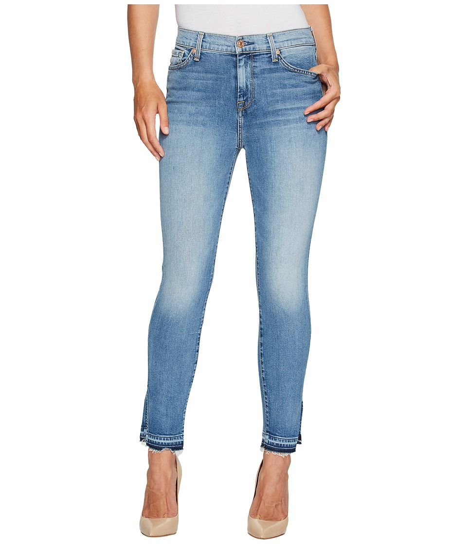 7 For All Mankind - The High Waist Ankle Skinny Jeans w/ Side Split Released Hem in Vintage Air Classic (Vintage Air Classic) Women's Jeans