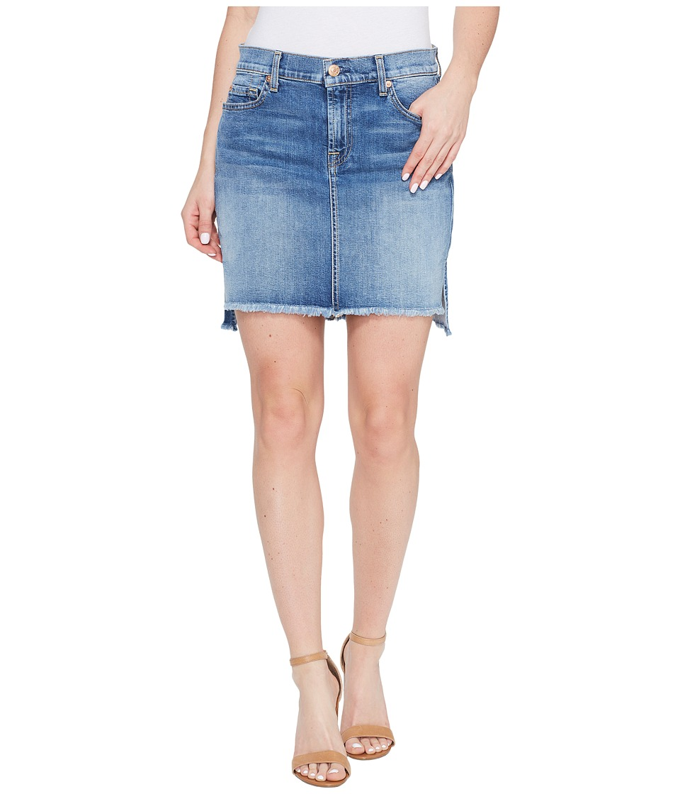 7 For All Mankind - Pencil Skirt w/ Step Hem in Vintage Air Classic (Vintage Air Classic) Women's Skirt