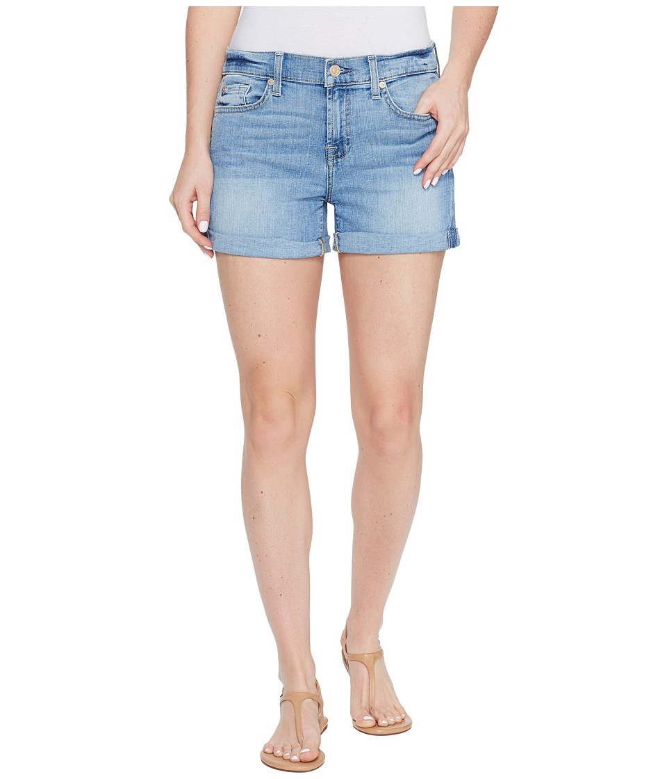 7 For All Mankind - Squiggle Roll Up Shorts in Willow Ridge (Willow Ridge) Women's Shorts