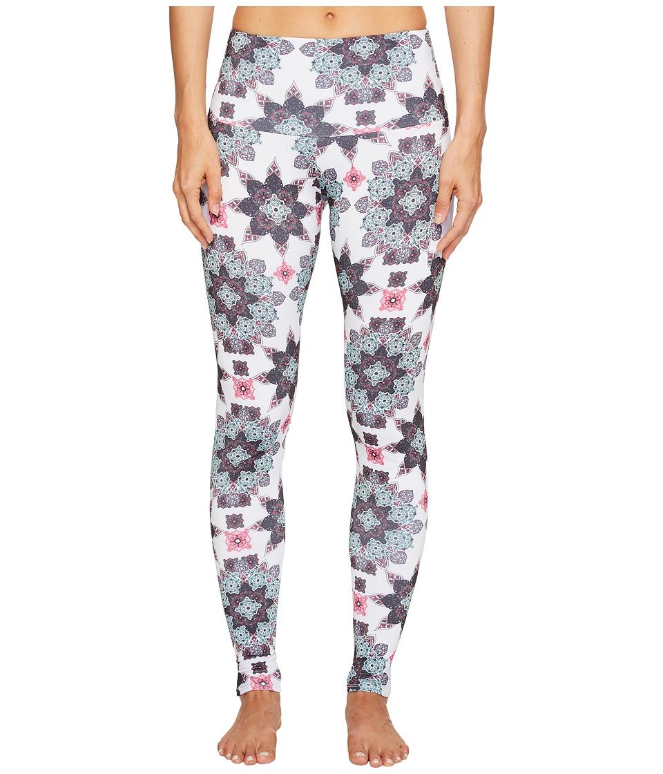 Onzie - High Rise Leggings (White Boho Love) Women's Casual Pants