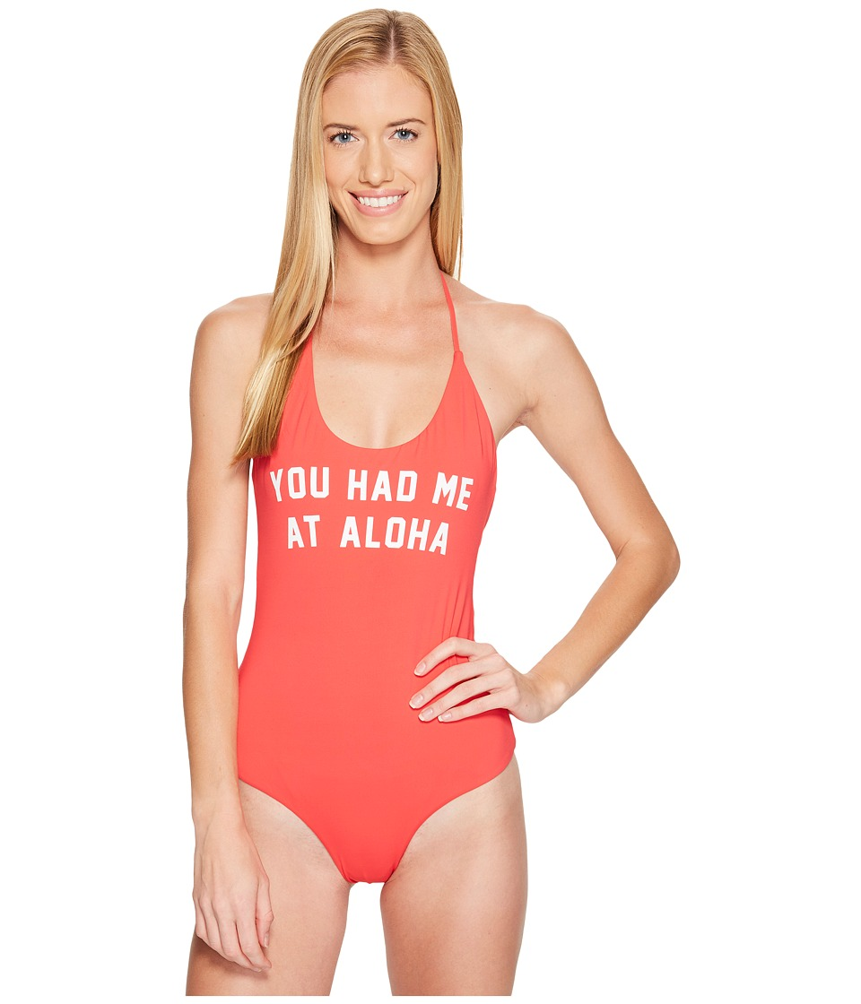 Spiritual Gangster - You Had Me At Retreat One-Piece (Watermelon) Women's Swimsuits One Piece
