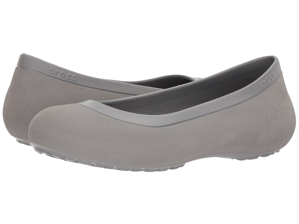 Crocs - Mammoth Flat (Smoke/Smoke) Women's Flat Shoes