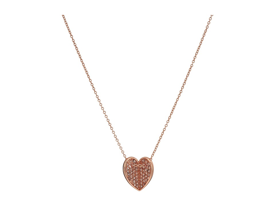 Vera Bradley - Heart Bent Short Necklace (Rose Gold) Necklace