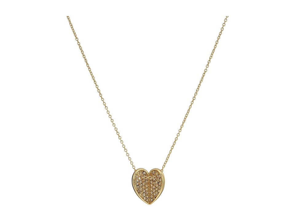 Vera Bradley - Heart Bent Short Necklace (Gold Tone) Necklace
