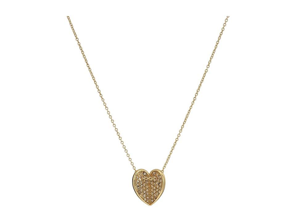 Vera Bradley - Heart Bent Short Necklace (Gold Tone) Necklace