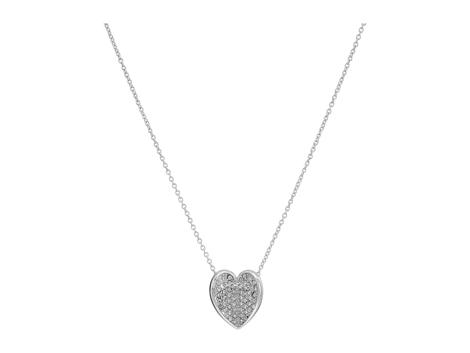 Vera Bradley - Heart Bent Short Necklace (Silver Tone) Necklace