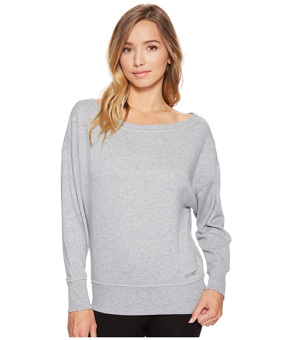 2(X)IST - Off Shoulder Sweatshirt (Light Grey Heather) Women's Sweatshirt