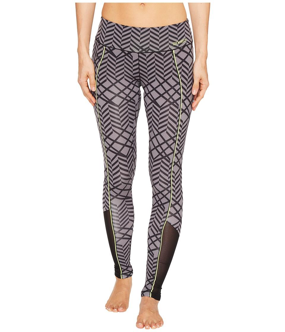 2(X)IST - Core Leggings (Fractal Chevron Print Grey) Women's Casual Pants