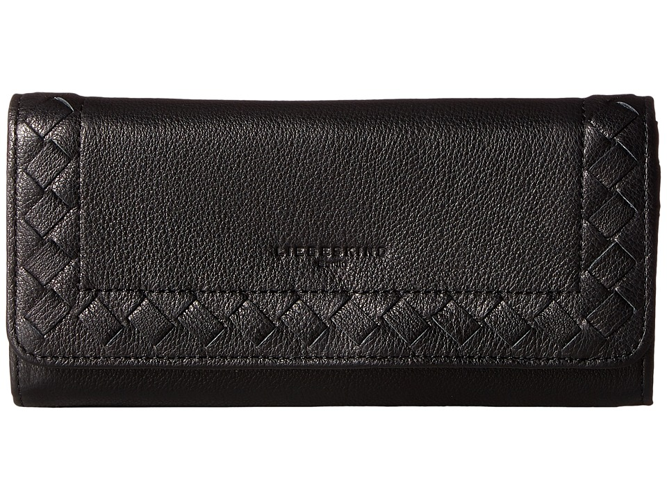 Liebeskind - Onna Lasercut Fold-Over Wallet (Black) Wallet Handbags