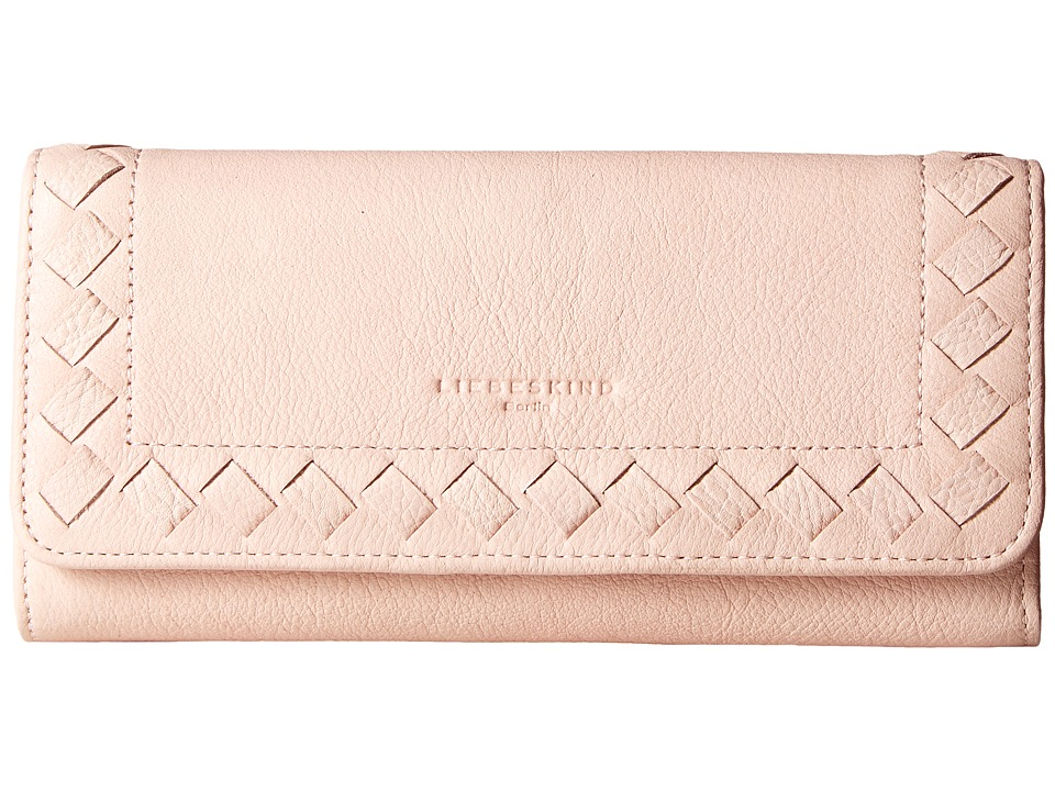 Liebeskind - Onna Lasercut Fold-Over Wallet (Antique Pink) Wallet Handbags
