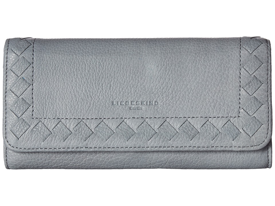 Liebeskind - Onna Lasercut Fold-Over Wallet (New Night Blue Light) Wallet Handbags