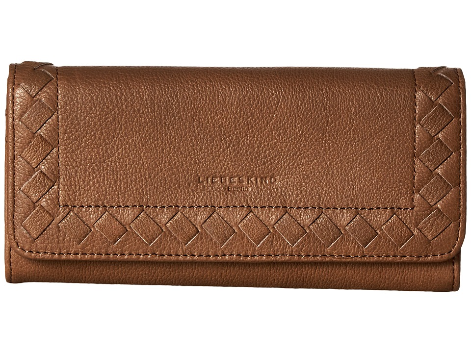 Liebeskind - Onna Lasercut Fold-Over Wallet (Earth) Wallet Handbags