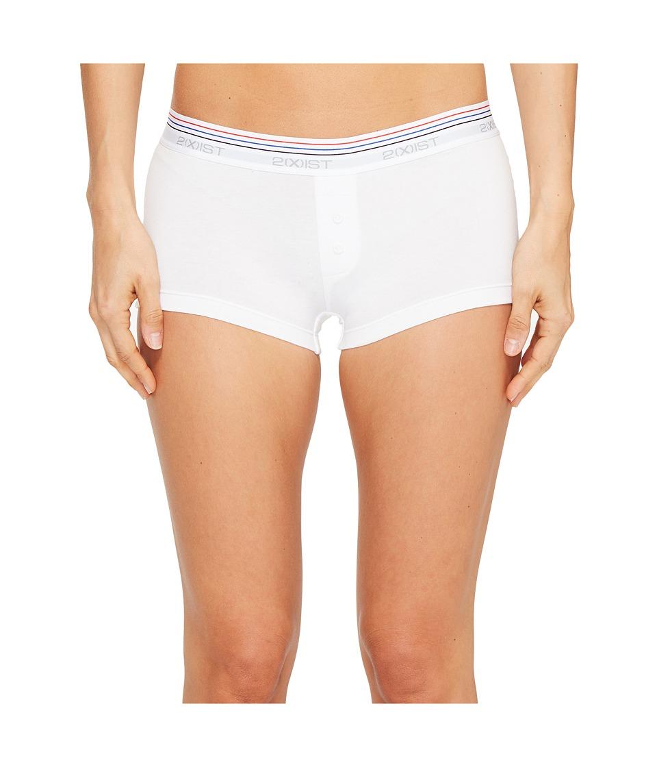 2(X)IST - Retro Cotton Boyshorts (White) Women's Underwear
