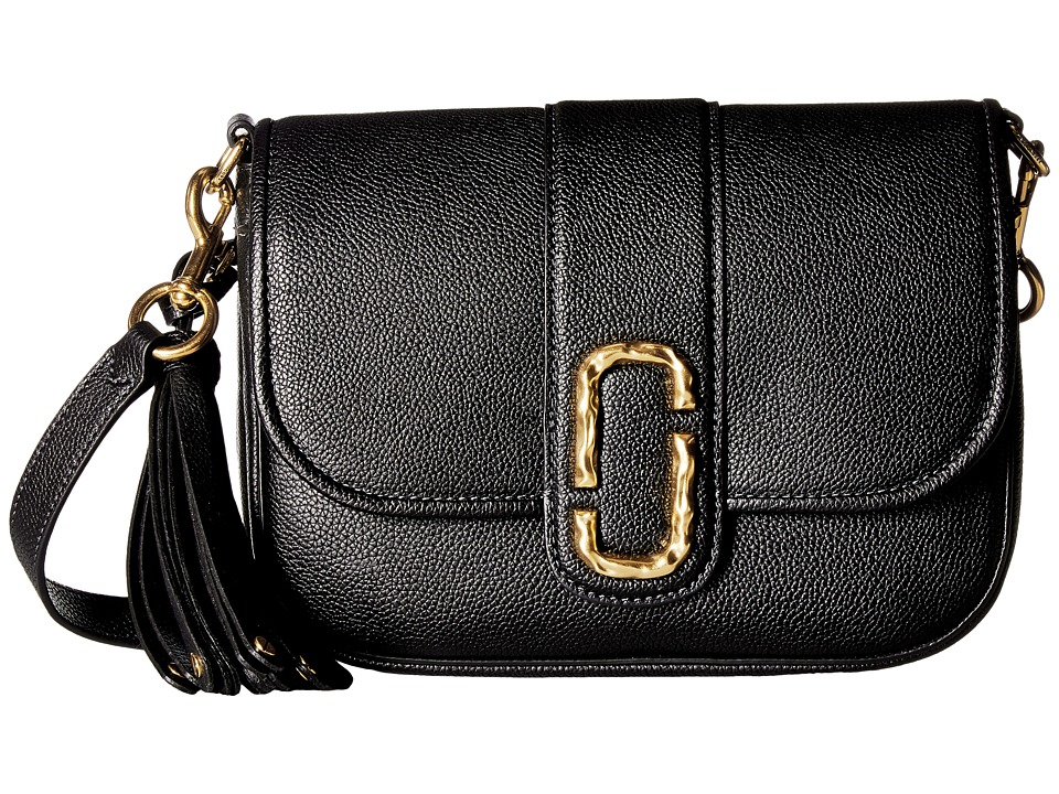 Marc Jacobs - Interlock Small Courier (Black) Handbags
