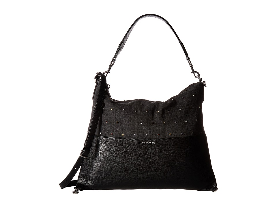 Marc Jacobs - The Grip Embellished Denim (Black) Handbags
