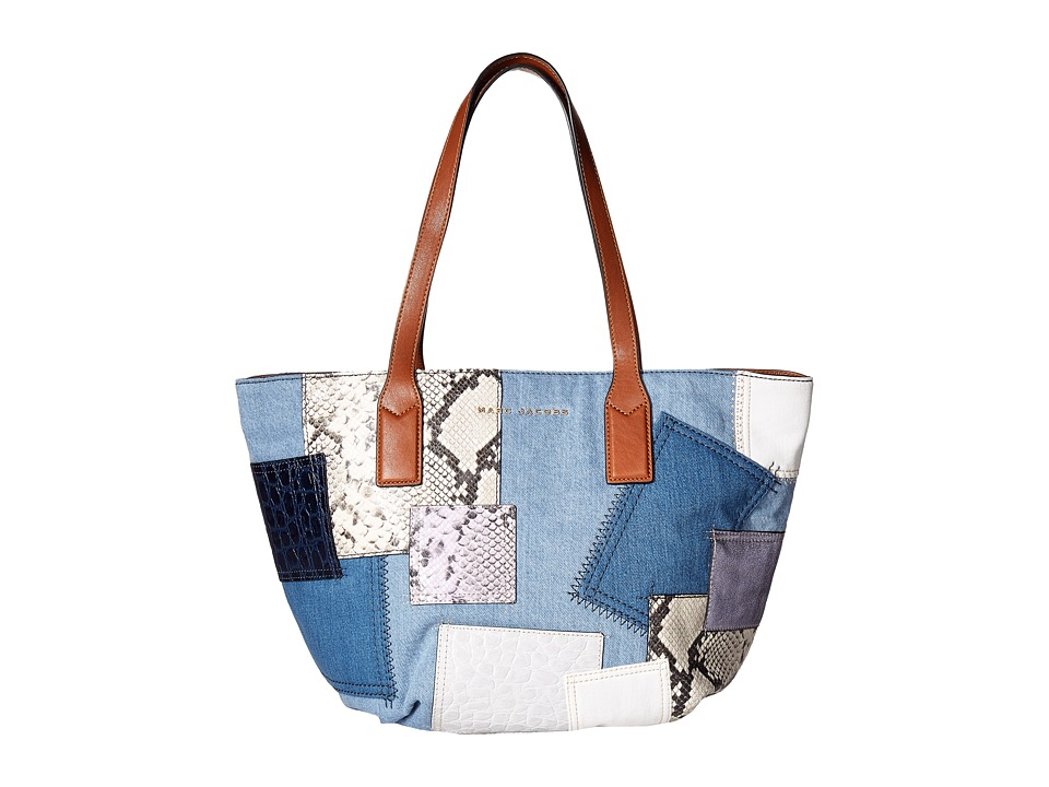 Marc Jacobs - Denim Patchwork Wingman (Denim Multi) Handbags